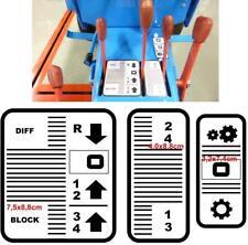 Schaltschemas Aufkleber Gutbrod Traktor 1031 1032 3teilig Superior 16?siehe Bild