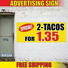 Special Tacos Banner Advertising Vinyl Sign Flag Custom Offer Discount Food Fair