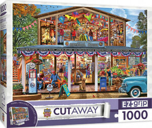 Masterpieces 1000 Piece Large Pieces Puzzle - Cutaway: Hometown Market Dinted