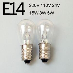 E14 Small Screw Oven Refrigerator Cooker Hood Light Bulb 220V 110V 24V 15W 8W 5W