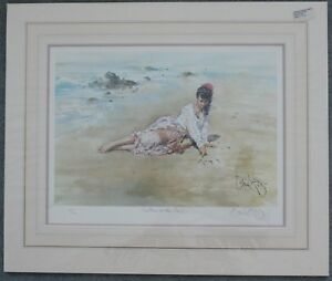 """GORDON KING. """"LETTERS IN THE SAND"""". SIGNED LIMITED EDITION PRINT"""