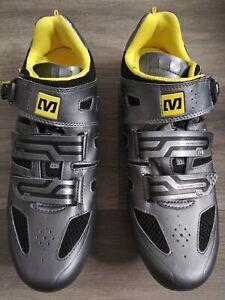 Mavic Energy Race 2D gun grey US 11.5 Fox XC Race MNB Cycling Bike yellow trail