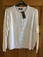 Marks & Spencer Ladies White Cardigan   Size 22 BNWT