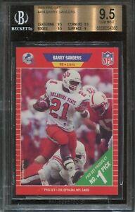 1989 Pro Set #494 Barry Sanders Rookie BGS 9.5 Gem Mint (Psa 10)  HOF  Lions