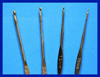 STAINLESS STEEL GOLD POINT CROCHET HOOK CHOOSE SIZE  NEW UK SELLER FAST DELIVERY