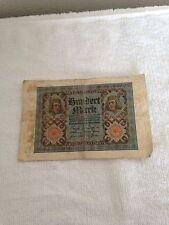 1920 GERMAN HUNDERT 100 MARK