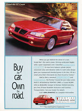 1995 Pontiac Grand Am GT Coupe - Own - Classic Vintage Advertisement Ad D135