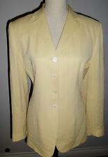 Ann Taylor size 14 Light yellow Rayon button down jacket fully lined