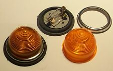 2 Beehive Amber Indicator lights 21 watt 12 volt Flush Fitting Durite 12v 21 w