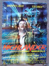 ITALIAN Highlander POSTER (1986) 26 x 39 inches,Christopher Lambert,Sean Connery