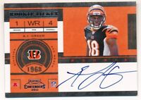 A.J. GREEN 2011 PLAYOFF CONTENDERS RC ROOKIE TICKET AUTOGRAPH BENGALS AUTO SP B