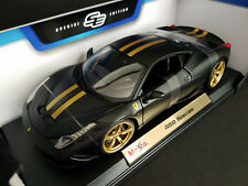 Maisto Model Ferrari 458 Speciale 1:18 Diecast Car Matte Black/Rare Colore