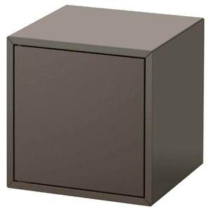 """IKEA EKET Cabinet with Door Dark Gray 13 ¾ x 13 ¾ x 13 ¾ """", 903.449.27 New"""