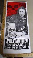 2006 Rock Roll Concert Poster Wolfmother Print Mafia S/N LE 100 Nashville TN