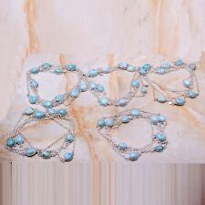 Larimar Gemstone 5 pcs Wholesale Lot Jewelry Necklace Lot-629