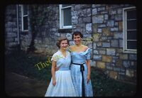Pretty Women 1950s 35mm Slide Vtg Red Border Kodachrome Formal Dress Fashion