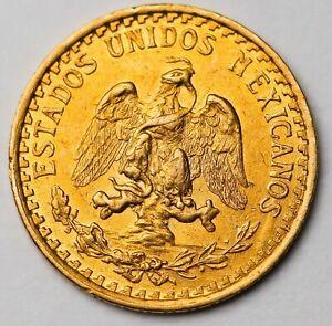 1919-M MEXICO 2 PESOS DOS Pesos Gold Coin WORLD GOLD  Oro puro