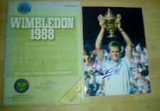 More details for wimbledon tennis final 1988 programme + signed photo stefan edberg - winner