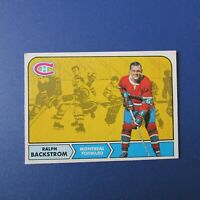 RALPH BACKSTROM 1968-69 O-Pee-Chee # 60 OPC  Montreal Canadiens  Ex-Mt+
