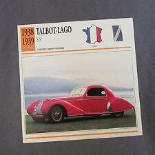 661C Edito Foglio Di Servizio Pieghevole Talbot-Lago SS