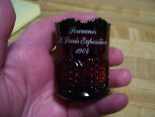 Antique 1904 St Louis World Fair Exposition Souvenir Glass Cup