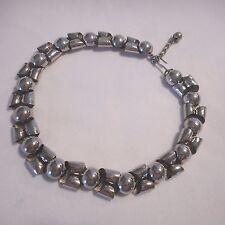 NAPIER Designer Signed Choker Necklace Bold 3D silver-tone Ai
