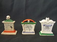Creepy Hollow Midwest Cannon Falls Set Of 3 Grave Stones