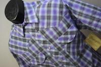38042 New Mens Wrangler Western Pearl Snaps Plaid Cowboy Shirt Size Medium