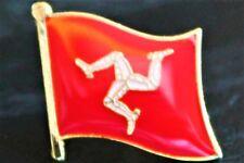 ISLE OF MAN Manx Country Metal Flag Lapel Pin Badge *NEW*