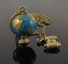 Vintage Globe Binocular Travelling Explorer Bronze Jewellery Necklace