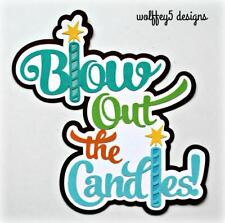 CRAFTECAFE BIRTHDAY TITLE premade paper piecing scrapbook diecut piece page 3d
