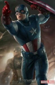 SDCC 2011 Poster - Marvel Captain America Comic Con Exclusive - Ryan Meinerding