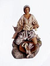 "NEW Achalay Creaciones  Colombian Figurine Woman Doing Loundry (Lavandera) 8"""""