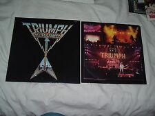 TRIUMPH Allied Forces '82 CANADIAN HAIR metal LP ORIGINAL US press