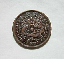 CHINA, EMPIRE. HUPEH. COPPER 10 CASH, CD1909. DRAGON.