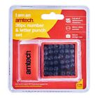 36pc - 5mm Number & Letter Punch Set Box Stamp Metal Steel Tool Stamping Wood