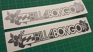 "FITS Mazda Bongo Friendee Aero Auto Free Top ""Billabongo"" stickers decals flower"