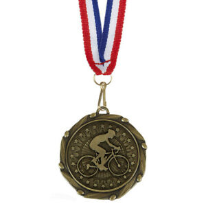"""""""Cycling Medals with Ribbons - Engraved FREE your message - Free P+P"""""""