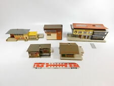 CH488-3# 5x Faller H0 Stellwerk/Bahnhof/Lagerhaus: Lindental + Neuburg etc
