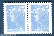 Variété Beaujard 4476 trait blanc traversant le timbre tenant à normal