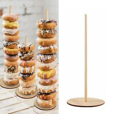 3pcs Wooden Doughnut Stand Donut Wall Display Holder Wedding Party Decor  11.6''