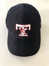 NEW ERA 59fifty Toledo Mud Hens Fitted Hat 7.5 Navy Blue MILB T Logo Home Cap