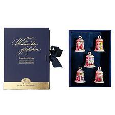 Hutschenreuther 5 Miniglocken im Samtkasten Weihnachtsglocken 2008 - 2012 OVP