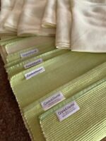 Lot 12 Crate & Barrel Textured Lime  Right Green Double-sided Placemats Napkins