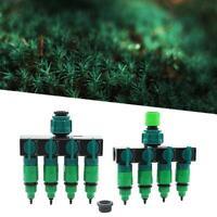 Drip Garden Irrigation 4 Way Tap Splitter Hose Faucet Adapter Connector Late FA