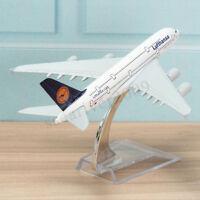 16cm 1:400 Metal Plane Model Aircraft A380 Lufthansa Aeroplane Scale Desk Toy