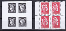 France 2019 Marianne l'Engagee et Ceres ND imperforated bloc of 4 from booklet