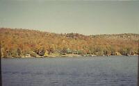 Vintage Photo Slide Boat Tour Old Forge New York October Peak Foliage Fall 1995