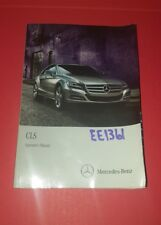 13 2013 Mercedes-Benz CLS Owners Manual Only