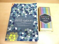 REDUCED: MODERN MEDITATION COLORING Book and 10 Metallic Pencils SET